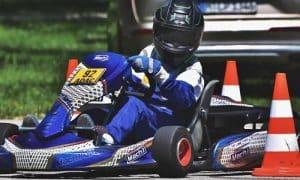 slalom en kart
